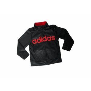 Boys size 2T adidas full zip black and track top